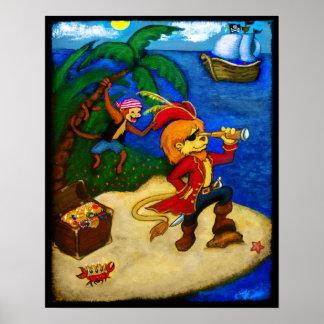 Una vida del pirata póster