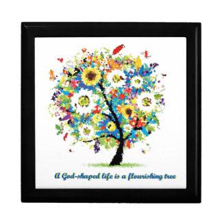 Una vida Dios-Formada es un árbol Flourishing Caja De Joyas