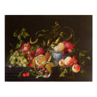 Una vida inmóvil de la fruta tarjetas postales