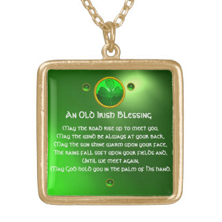 Una vieja bendición irlandesa colgante cuadrado