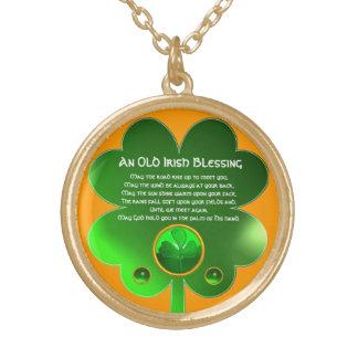 Una vieja bendición irlandesa colgante redondo