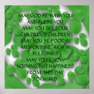 Una VIEJA bendición IRLANDESA del BODA Poster