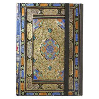 Una vieja cubierta de libro decorativa colorida