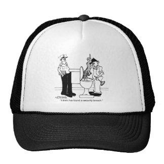 Una violación de la seguridad gorras de camionero