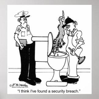 Una violación de la seguridad póster