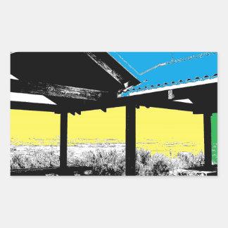 Una visión colorida rectangular pegatinas