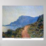 Una visión costera con una bahía de Claude Monet Impresiones