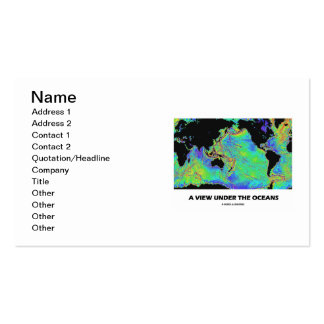 Una visión debajo de los océanos (mapa del mundo) tarjeta de visita