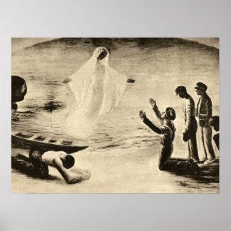 Una visión del Virgen María Poster