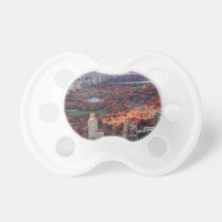 Una visión desde arriba: Otoño en el Central Park Chupetes Para Bebés