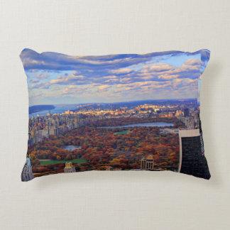 Una visión desde arriba: Otoño en el Central Park Cojín Decorativo