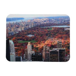 Una visión desde arriba Otoño en el Central Park Imanes Rectangulares