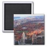Una visión desde arriba: Otoño en el Central Park Imán Cuadrado