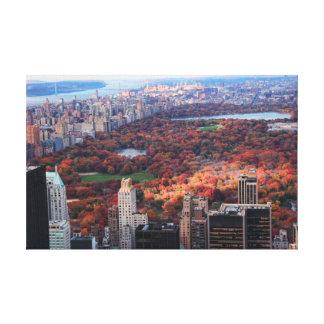 Una visión desde arriba: Otoño en el Central Park Impresión En Lona Estirada