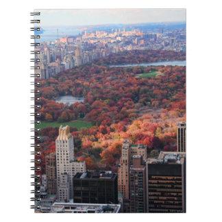 Una visión desde arriba: Otoño en el Central Park Libreta