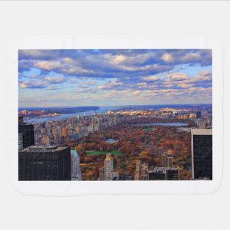 Una visión desde arriba: Otoño en el Central Park Mantitas Para Bebé