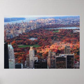 Una visión desde arriba: Otoño en el Central Park Póster