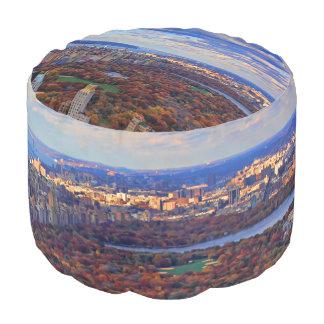 Una visión desde arriba: Otoño en el Central Park Puf Redondo