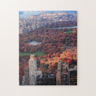 Una visión desde arriba: Otoño en el Central Park Puzzle