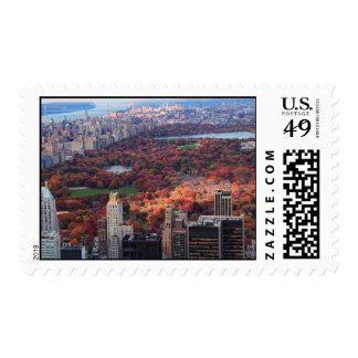 Una visión desde arriba: Otoño en el Central Park Sellos