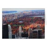 Una visión desde arriba: Otoño en el Central Park Felicitacion