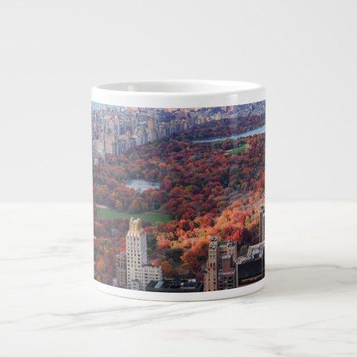 Una visión desde arriba: Otoño en el Central Park Tazas Extra Grande