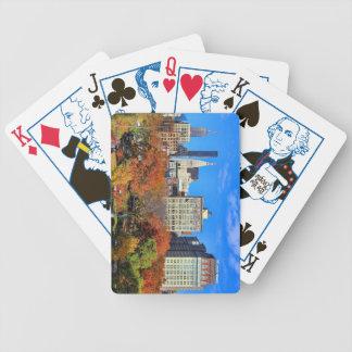 Una visión desde arriba: Otoño en el parque NYC Cartas De Juego