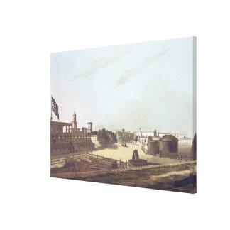 Una visión desde Barracks del rey, fuerte San Jorg Lona Envuelta Para Galerias