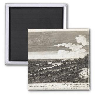 Una visión desde la colina de Richmond rio abajo Imán Cuadrado