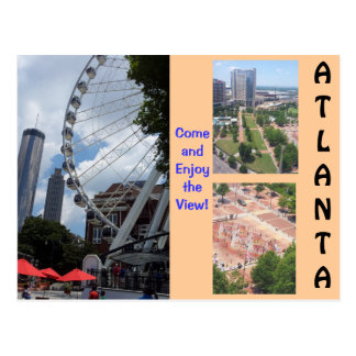 Una visión desde la postal superior de Atlanta