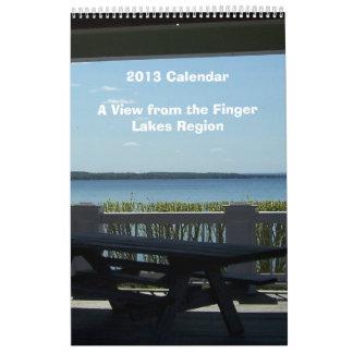 Una visión desde la región de los lagos finger calendarios