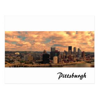 Una visión desde Mt Washington de Pittsburgh Tarjeta Postal