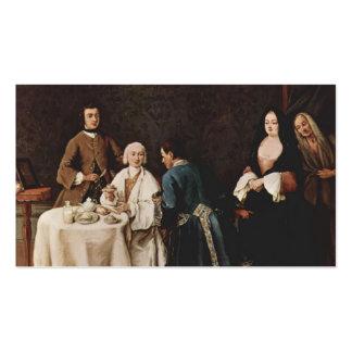Una visita a un señor de Pietro Longhi Tarjeta De Negocio