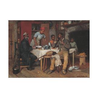 Una visita pastoral lienzo envuelto para galerías