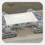 Una vista aérea del correa-transportador pegatina cuadrada