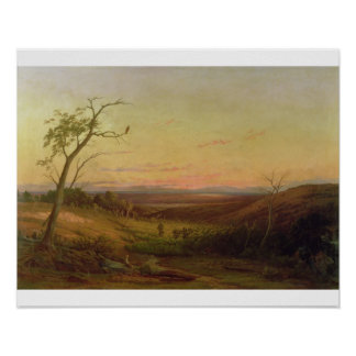 Una vista de Adelaide en la puesta del sol Poster