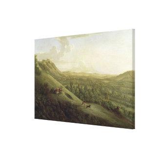 Una vista de Boxhill, Surrey, con Dorking en el SI Lienzo Envuelto Para Galerías