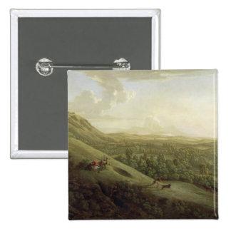 Una vista de Boxhill, Surrey, con Dorking en el SI Pin Cuadrada 5 Cm