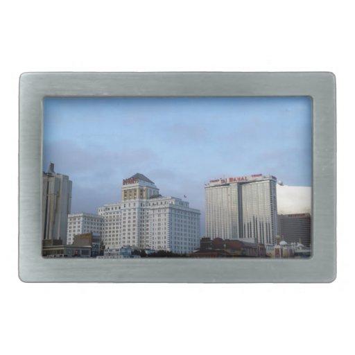 Una vista de casinos en Atlantic City Hebilla De Cinturon Rectangular