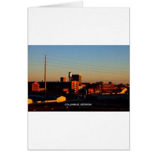 Una vista de Columbus, GA tomado de la ciudad de P Tarjeta De Felicitación
