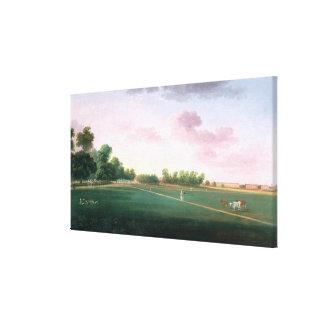 Una vista de Hyde Park, siglo XIX Lona Estirada Galerías