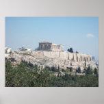 Una vista de la acrópolis de la colina de Filopapp Poster