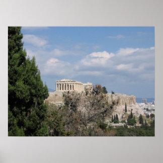 Una vista de la acrópolis de la colina de Filopapp Impresiones