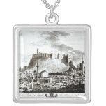 Una vista de la ciudad y del castillo de Alepo, Si Colgante Personalizado