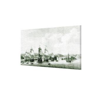 Una vista de la isla de Sta. Lucía Impresiones En Lona Estiradas