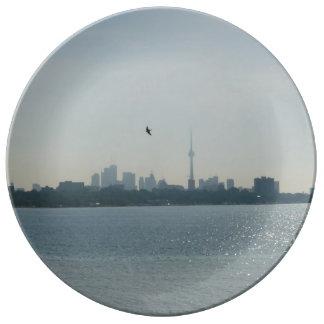 Una vista de la placa de la porcelana de Toronto Platos De Cerámica