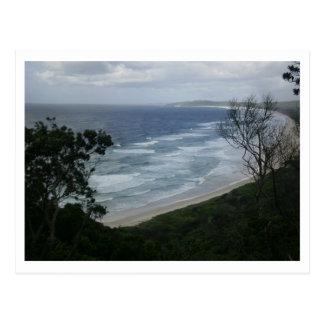 Una vista de la playa postal