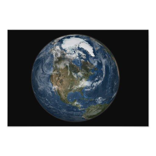 Una vista de la tierra impresiones fotográficas