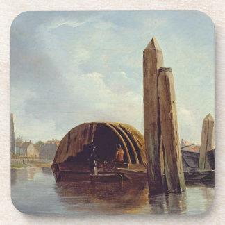 Una vista de Lambeth (aceite en el panel) Posavaso