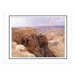 Una vista de Masada Postal